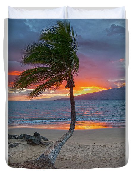 Lonely Palm Duvet Cover