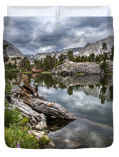 Long Lake Duvet Cover by Cat Connor