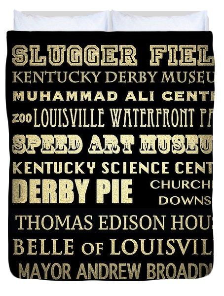Louisville Famous Landmarks Duvet Cover
