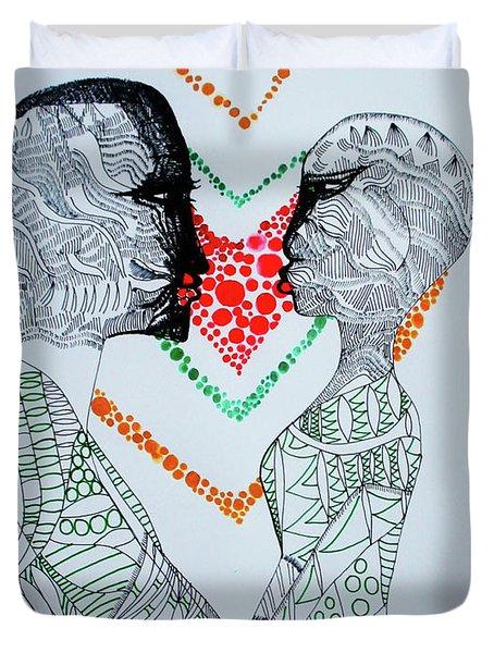 Love Is A Heart Duvet Cover