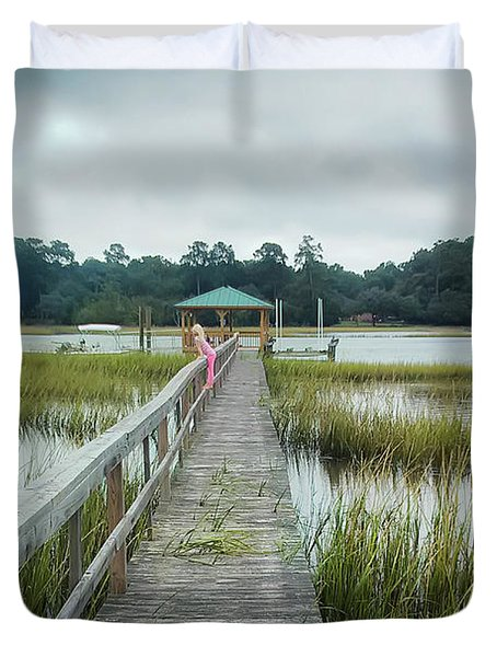 Lowcountry Dock Duvet Cover