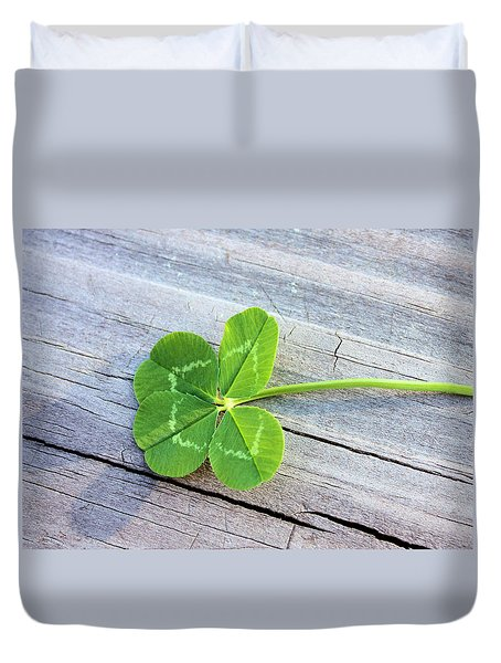 Lucky Duvet Cover by Kristin Elmquist
