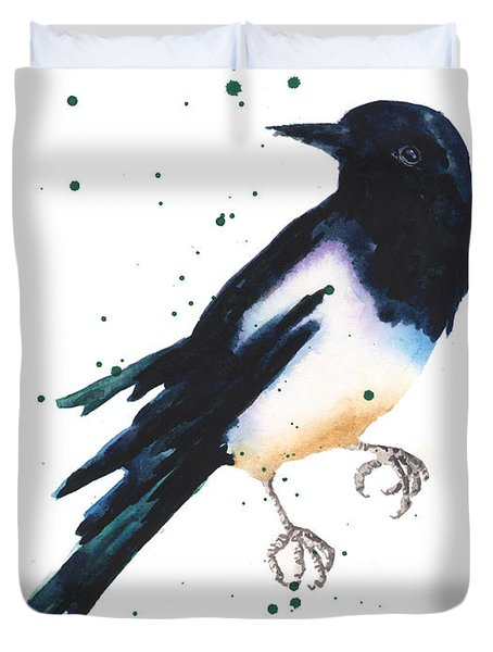 Magpie Painting Duvet Cover