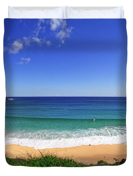 Makapuu Beach Duvet Cover by Kevin Smith