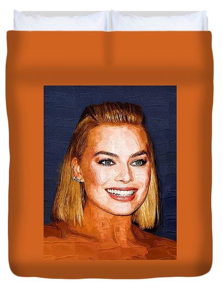 Margot Robbie Art Duvet Cover
