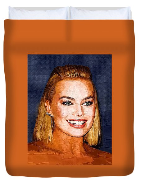 Margot Robbie Art Duvet Cover by Best Actors
