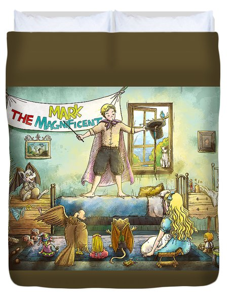 Mark The Magnificent Duvet Cover