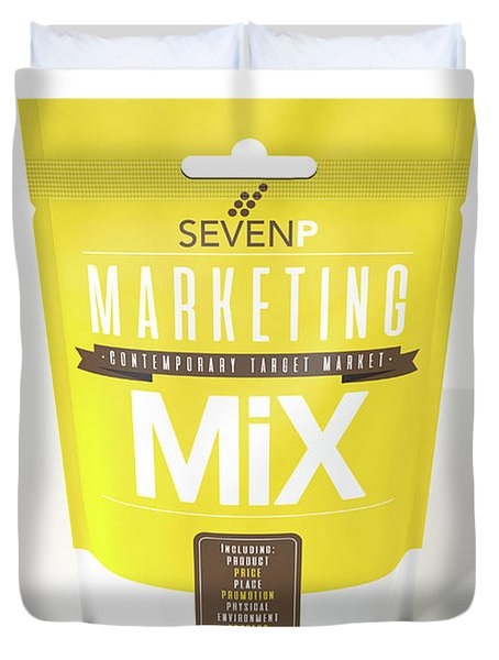 Marketing Mix 7 P's Duvet Cover