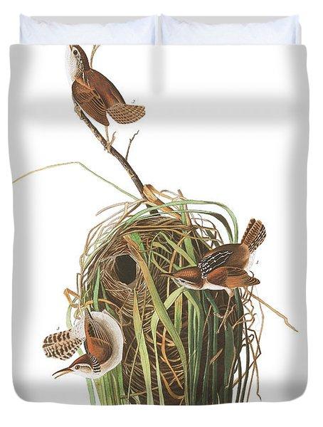 Marsh Wren Duvet Cover