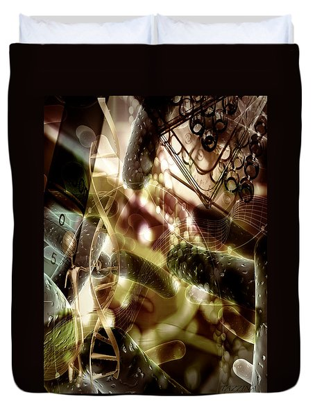Duvet Cover featuring the digital art Medils Art by Danica Radman