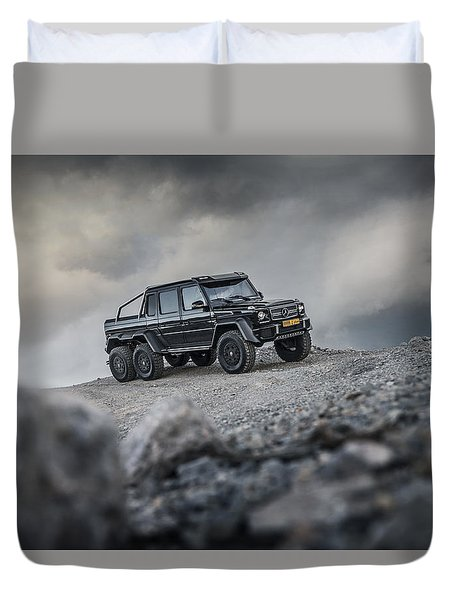 Mercedes G63 6x6 In Oman Duvet Cover