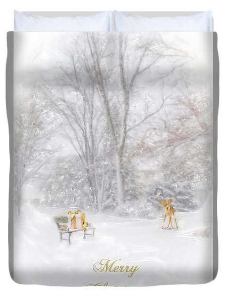 Duvet Cover featuring the photograph Merry Christmas by Mary Timman