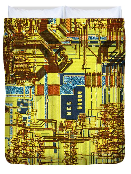 Microprocessor Duvet Cover by Michael W. Davidson