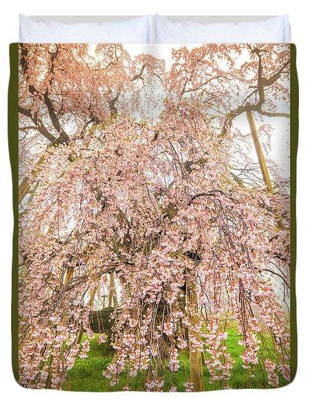 Duvet Cover featuring the photograph Miharu Takizakura Weeping Cherry03 by Tatsuya Atarashi