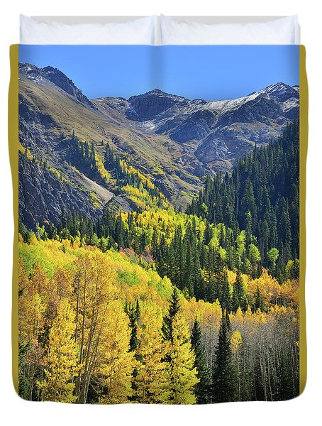 Duvet Cover featuring the photograph Million Dollar Highway  by Ray Mathis
