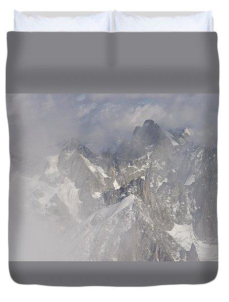 Mist At Aiguille Du Midi Duvet Cover