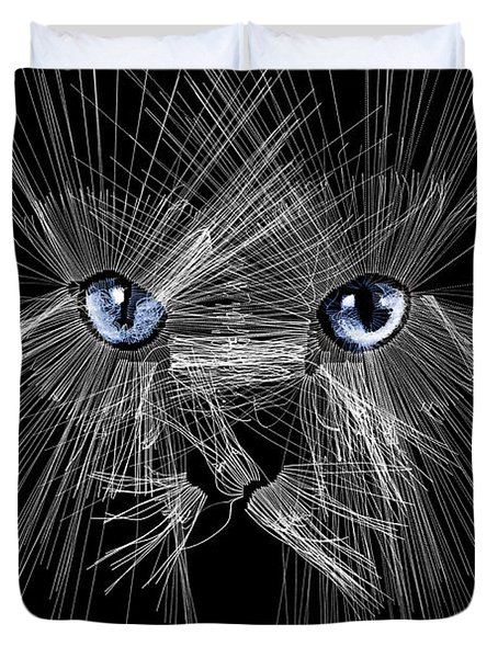 Mister Whiskers Duvet Cover by ISAW Gallery