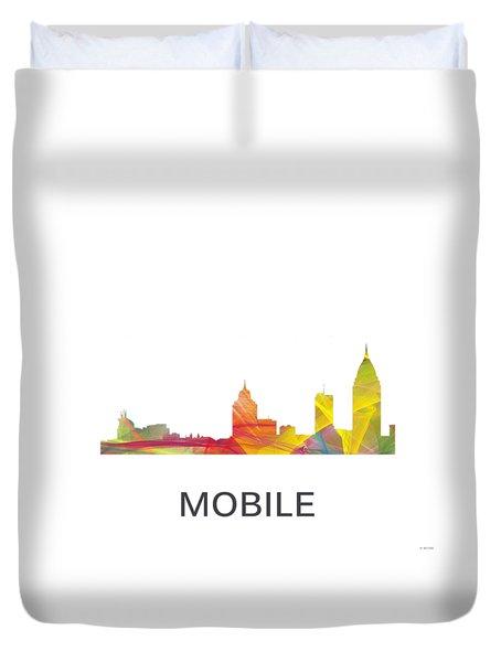 Mobile Alabama Skyline Duvet Cover