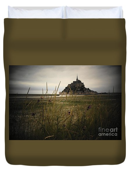 Mont St Michel Duvet Cover by Therese Alcorn