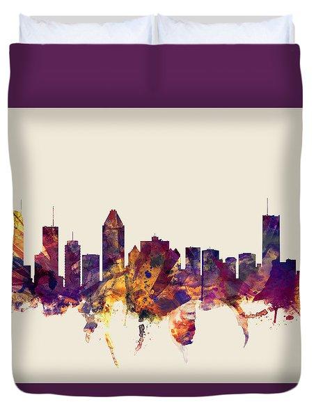 Montreal Canada Skyline Duvet Cover