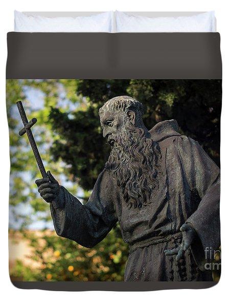 Duvet Cover featuring the photograph Monument To Fray Pablo De Cadiz Alameda Apodaca Cadiz Spain by Pablo Avanzini