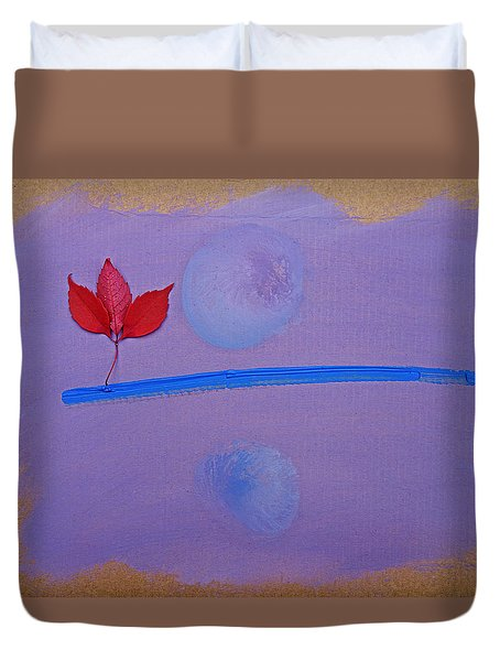Duvet Cover featuring the painting Moon Dance by Charles Stuart