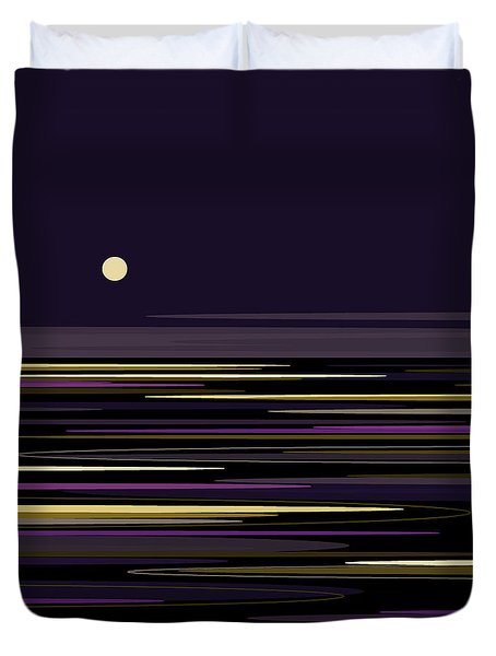 Moonlight Bay Duvet Cover by Val Arie