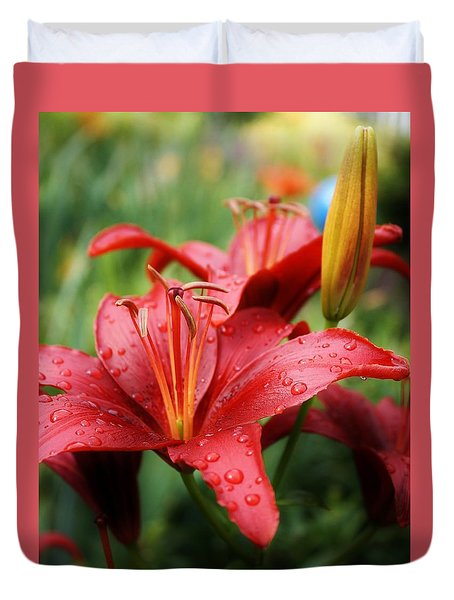 Duvet Cover featuring the photograph Morning Rain by Bruce Bley