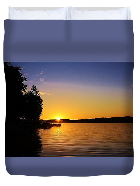 Duvet Cover featuring the photograph Mornings First Light by Bruce Bley