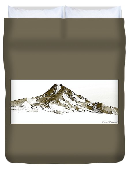 Mt. Hood Duvet Cover by Steve Warnstaff