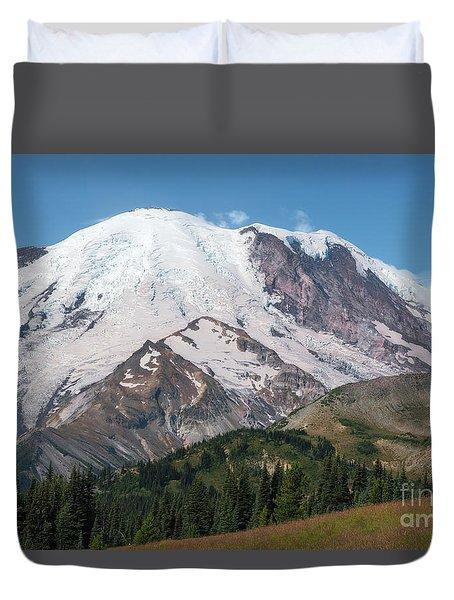 Mt Rainier From Sunrise Duvet Cover