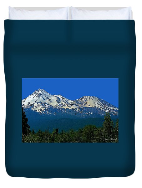 Mt. Shasta Duvet Cover by Steve Warnstaff