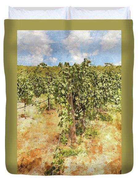 Napa Vineyard In The Spring Duvet Cover