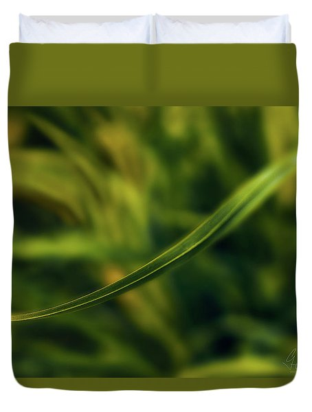 Duvet Cover featuring the photograph Natures Way by Gene Garnace