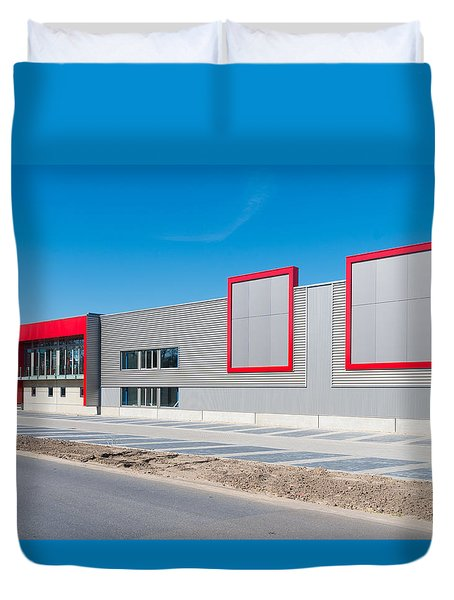 Duvet Cover featuring the photograph New Office Building by Hans Engbers