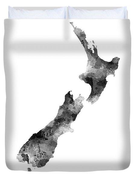New Zealand Map Duvet Cover