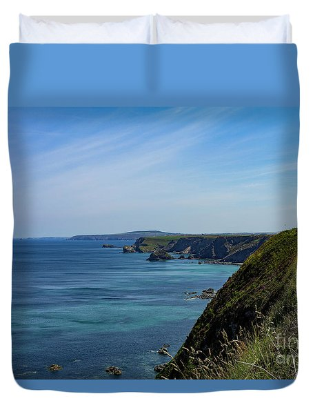Duvet Cover featuring the photograph North Coast Cornwall by Brian Roscorla