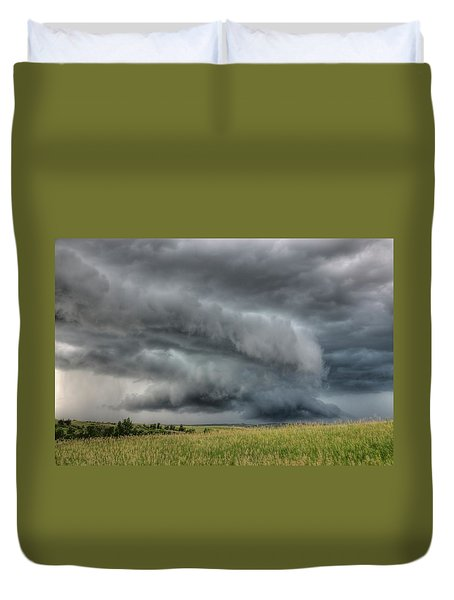 North Dakota Thunderstorm Duvet Cover