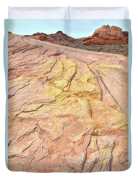 Duvet Cover featuring the photograph North Valley Of Fire by Ray Mathis