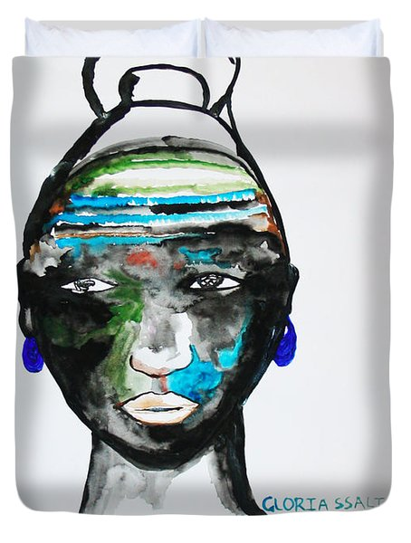 Nuer Bride - South Sudan Duvet Cover