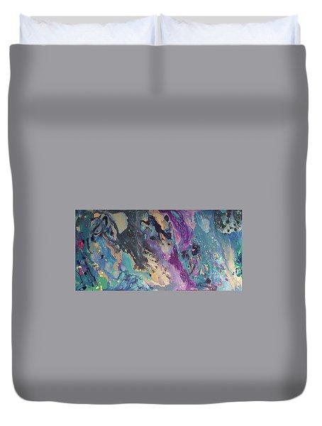 Ocean Floor Duvet Cover by Margalit Romano