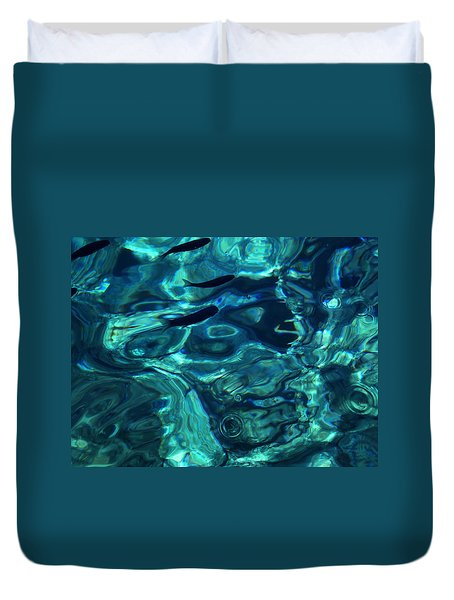 Duvet Cover featuring the photograph Ocean Water Santorini Greece  by Colette V Hera  Guggenheim