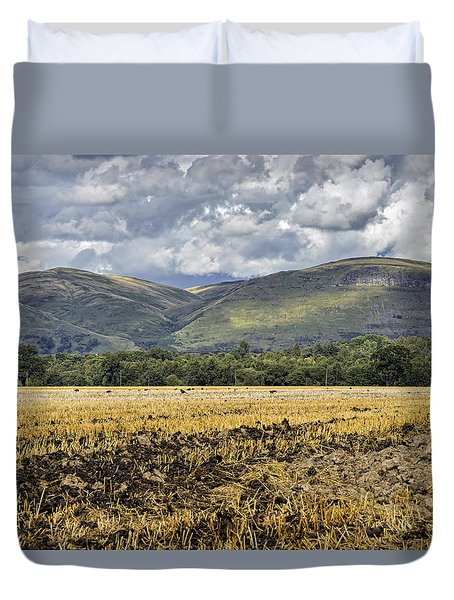 Ochil Hills Duvet Cover by Jeremy Lavender Photography