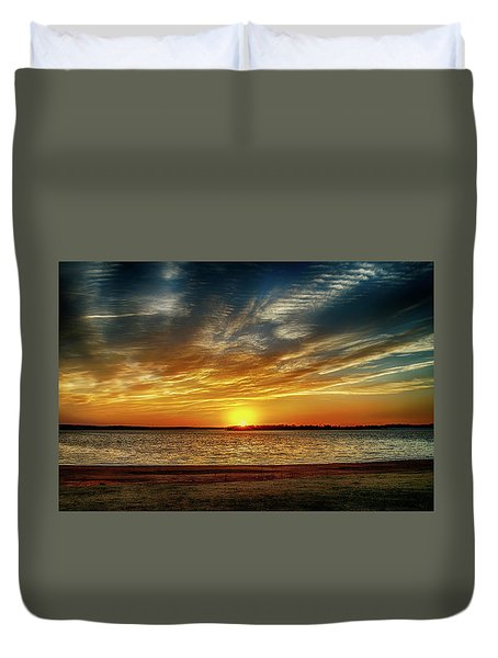 Oklahoma Sunset Duvet Cover by Doug Long