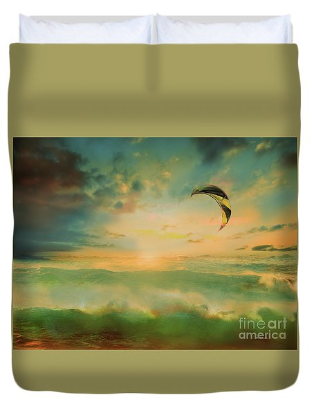 Duvet Cover featuring the photograph Olas by Alfonso Garcia