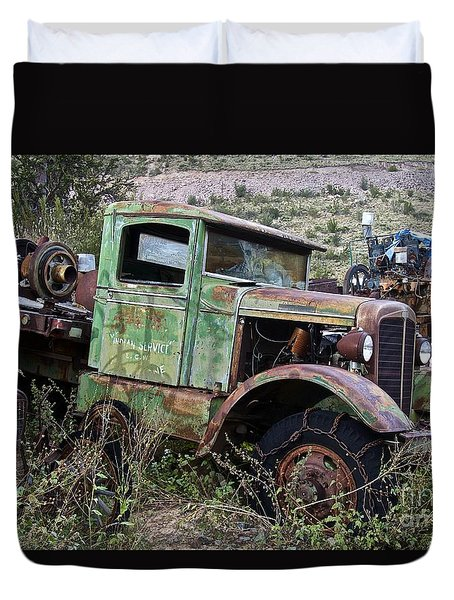 Old Truck Duvet Cover by Anthony Jones