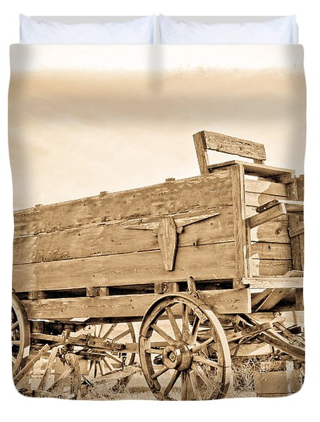 Old West Wagon  Duvet Cover by Steve McKinzie