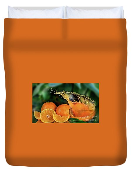Orange Splash Duvet Cover