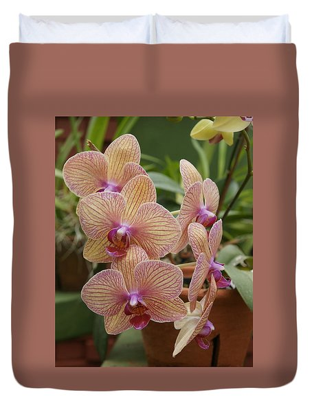 Duvet Cover featuring the photograph Orchid by Christian Zesewitz