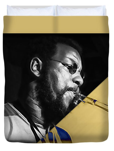 Ornette Coleman Collection Duvet Cover by Marvin Blaine